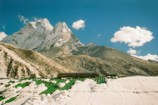 View to Ama Dablam from Dingboche, Nepal
