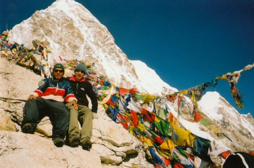 Me and a sherpa guide on top of Kala Pattar