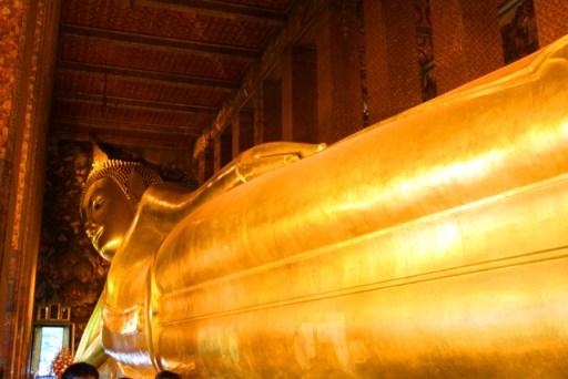 The reclining buddha in Bangkok, Thailand