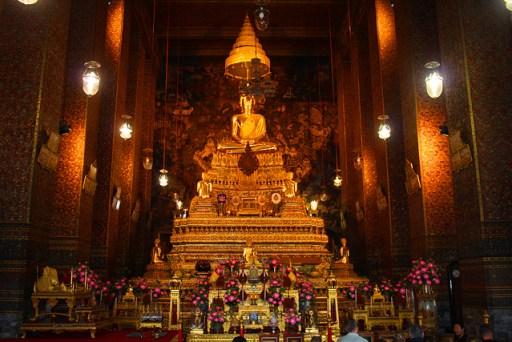 Main shrine in wat po, bangkok, thailand