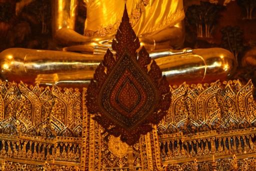 shrine in wat po, bangkok, thailand