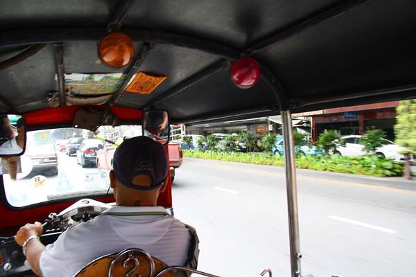 In a tuk tuk in Bangkok, Thailand