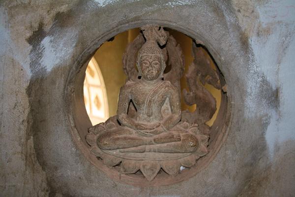 Buddha image in Patuxai in Vientiane, Laos