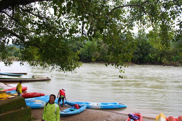 Kayaking in Vang Vieng, Laos
