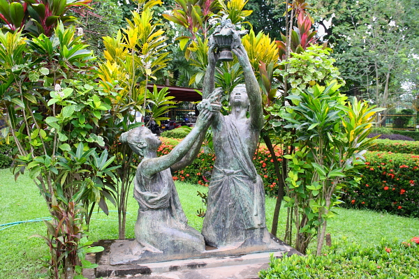 Statues in the garden at Ho Phra Keo in Vientiane, Laos