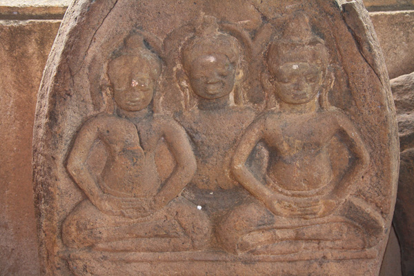 A stone carving at Ho Phra Keo in Vientiane, Laos