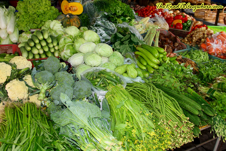 Fresh vegetables in a market in Chiang Mai, Thailand
