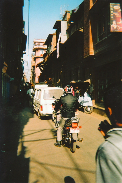 Traffic in Kathmandu, Nepal