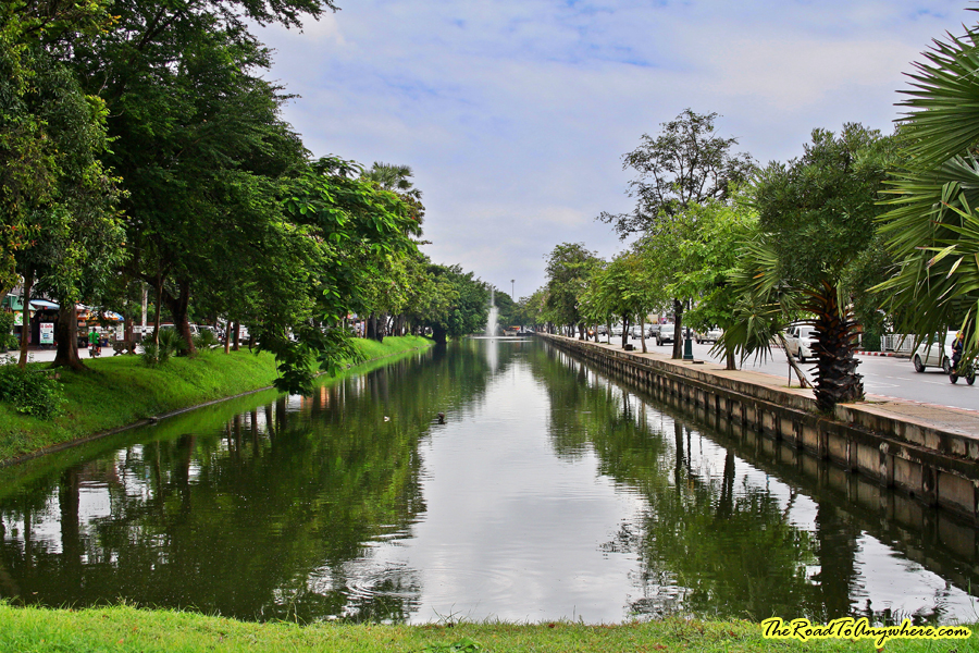 Old city moat in Chiang Mai, Thailand