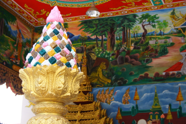 decorations in Wat Inpeng in Vientiane, Laos