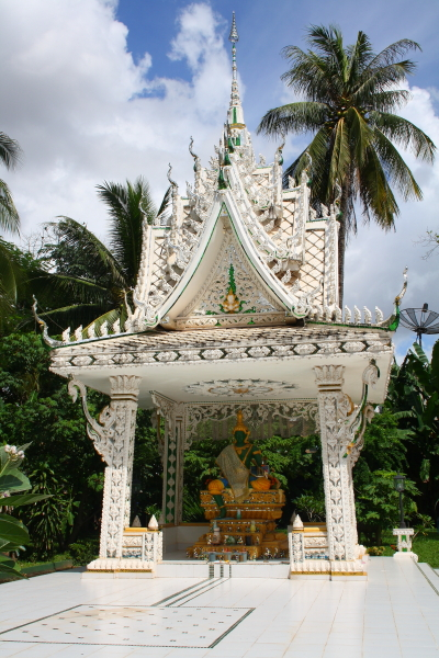 A shrine in Wat Inpeng in Vientiane, Laos