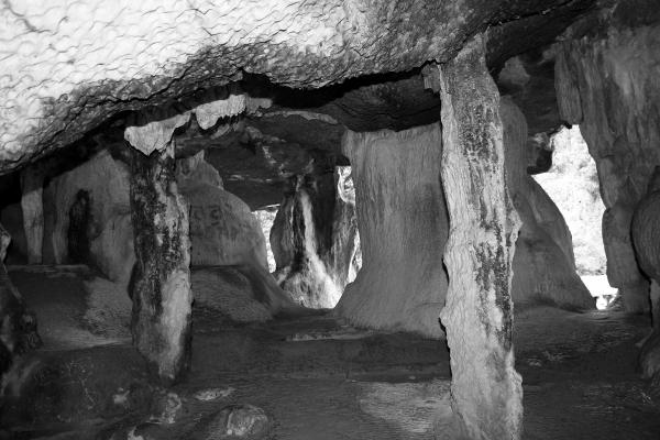 Inside sea caves at James Bond Island, Thailand