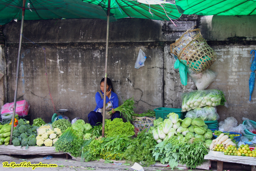 street side market in Chiang Rai, Thailand