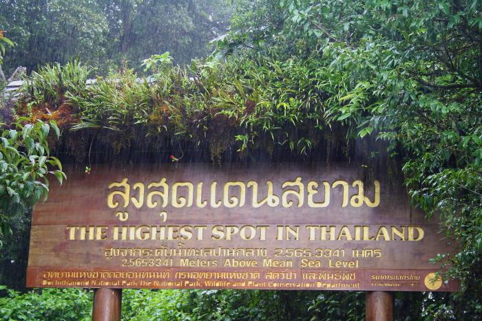 Highest point in Thailand Sign