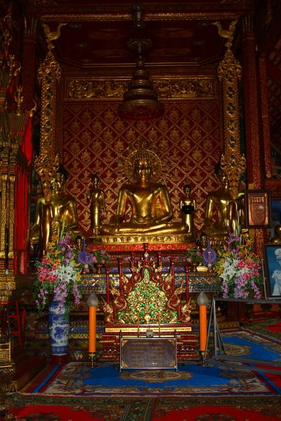 Phra Singh Buddha image at Wat Phra Singh in Chiang Rai, Thailand