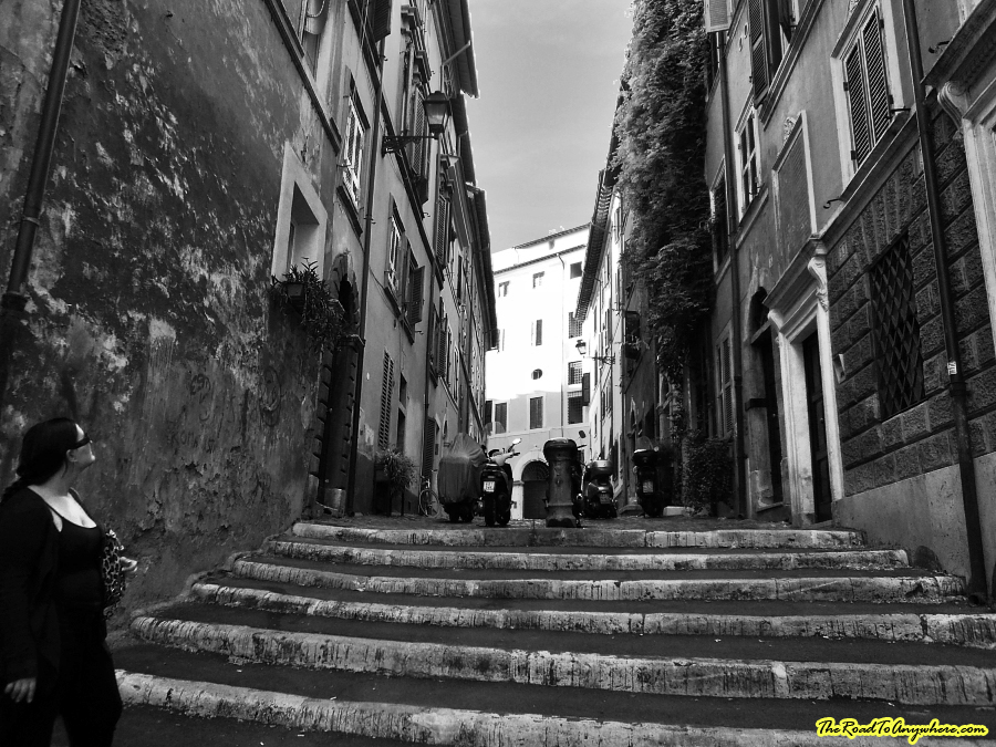 Pathway in Rome, Italy