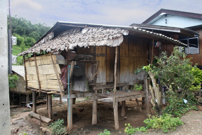 A meager house at a White Karen Village in Northern Thailand