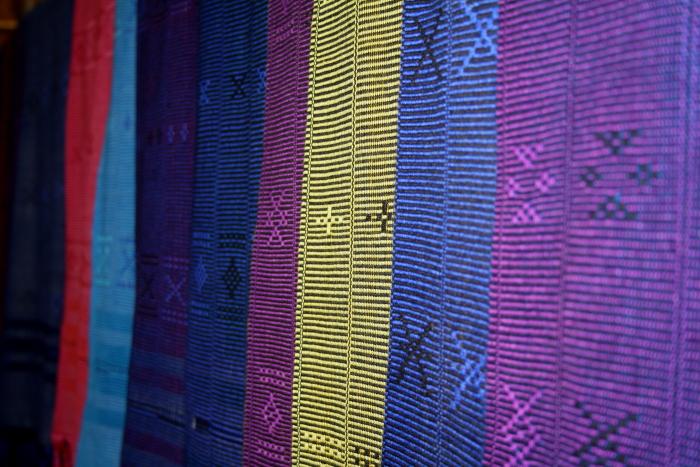 White Karen village scarfs in Northern Thailand