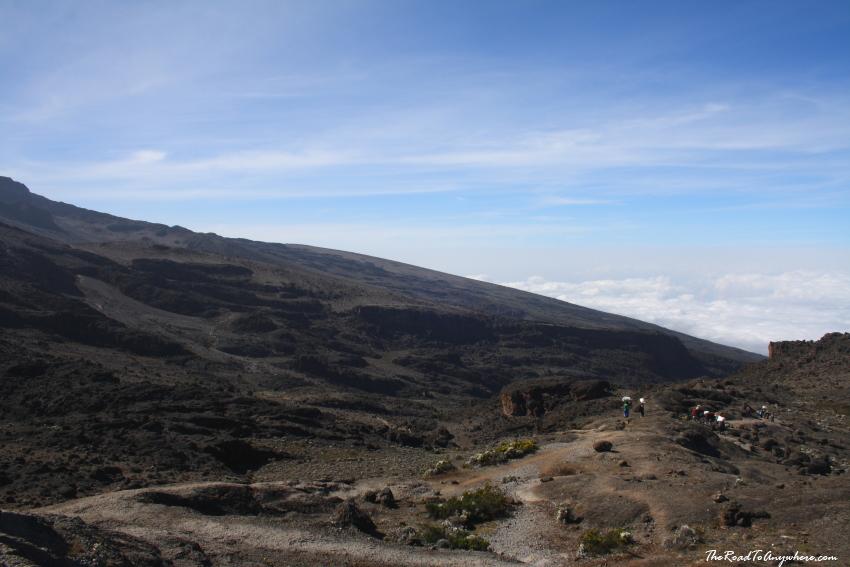 Alpine Dessert landscape on Mount Kilimanjaro, Tanzania