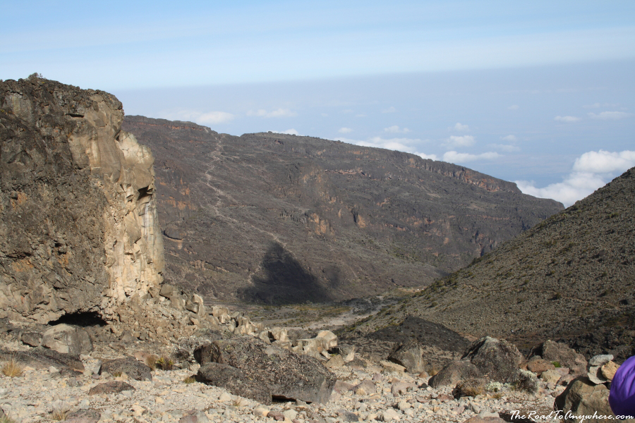 View of the Barranco Valley on Mount Kilimanjaro, Tanzania