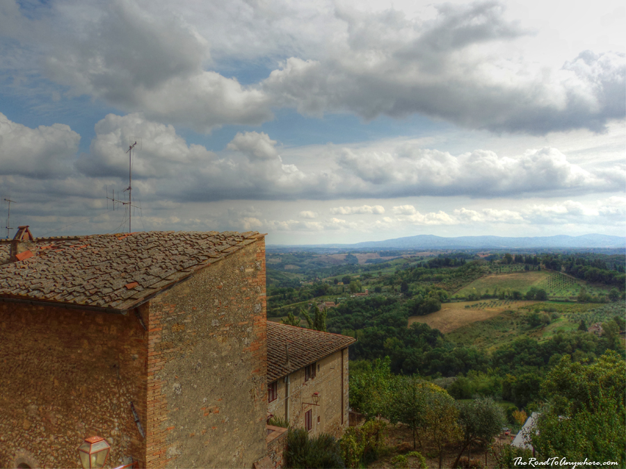 Country view from San Gimignano in Tuscany, Italy
