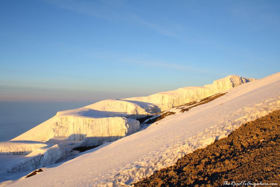 A glacier on Mount Kilimanjaro, Tanzania