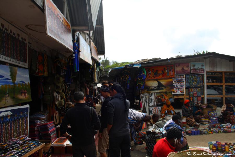 Wandering around Arusha Curio Market, Tanzania