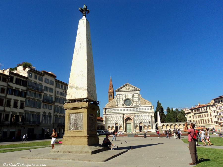 Piazza Santa Maria Novella in Florence, Italy