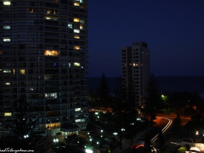 View of Surfer's Paradise at Night in Gold Coast, Australia