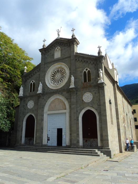 San Giovanni Battista Church in Riomaggiore in Cinque Terre, Italy