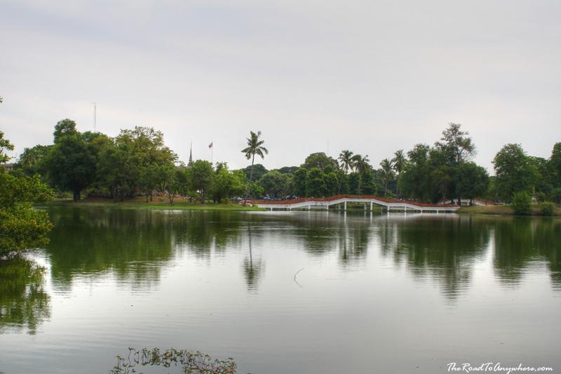 Lake at Wat Phra Ram in Ayutthaya, Thailand