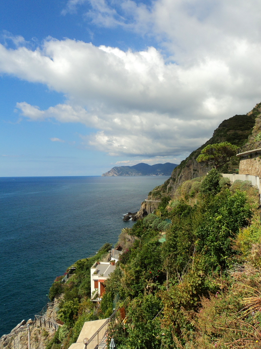 Coastline on Via Dell'Amore in Cinque Terre, Italy