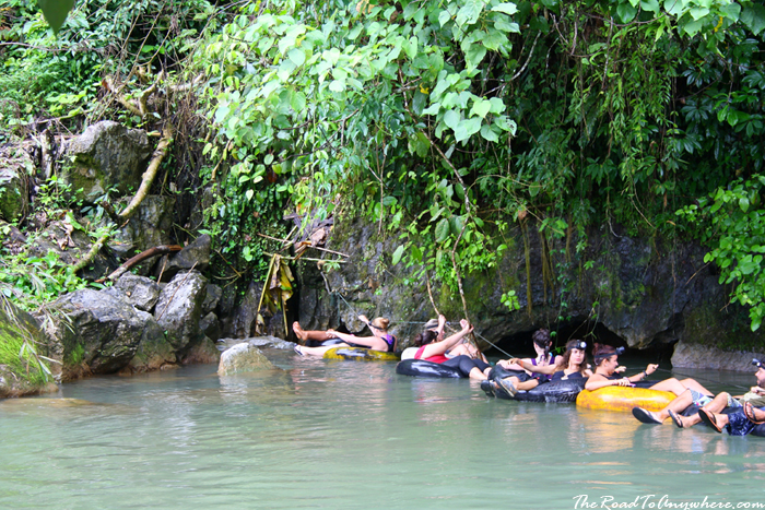 Tubing through caves in Vang Vieng, Laos