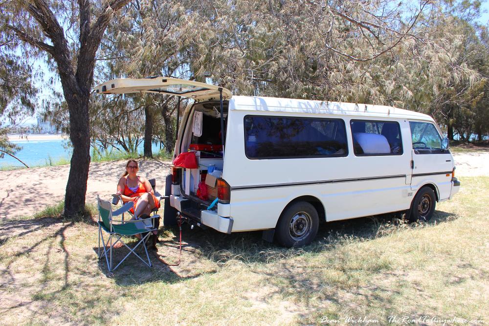 Campervan at the beach on the Gold Coast, Australia
