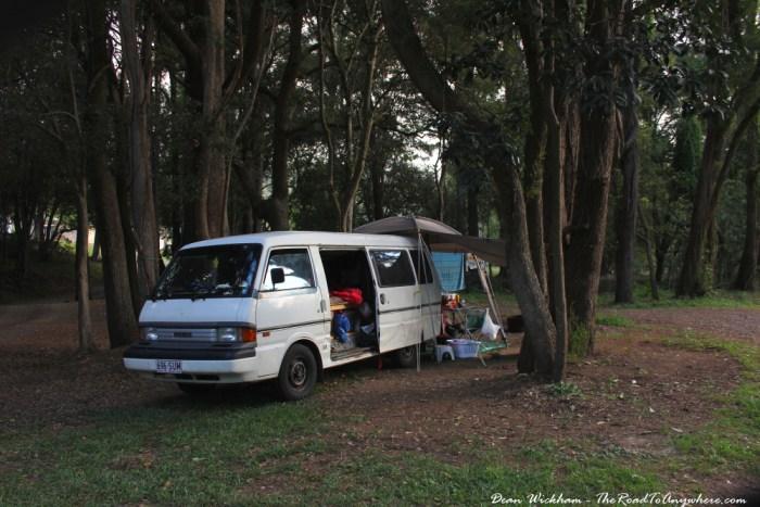 Camping at Canungra, Australia