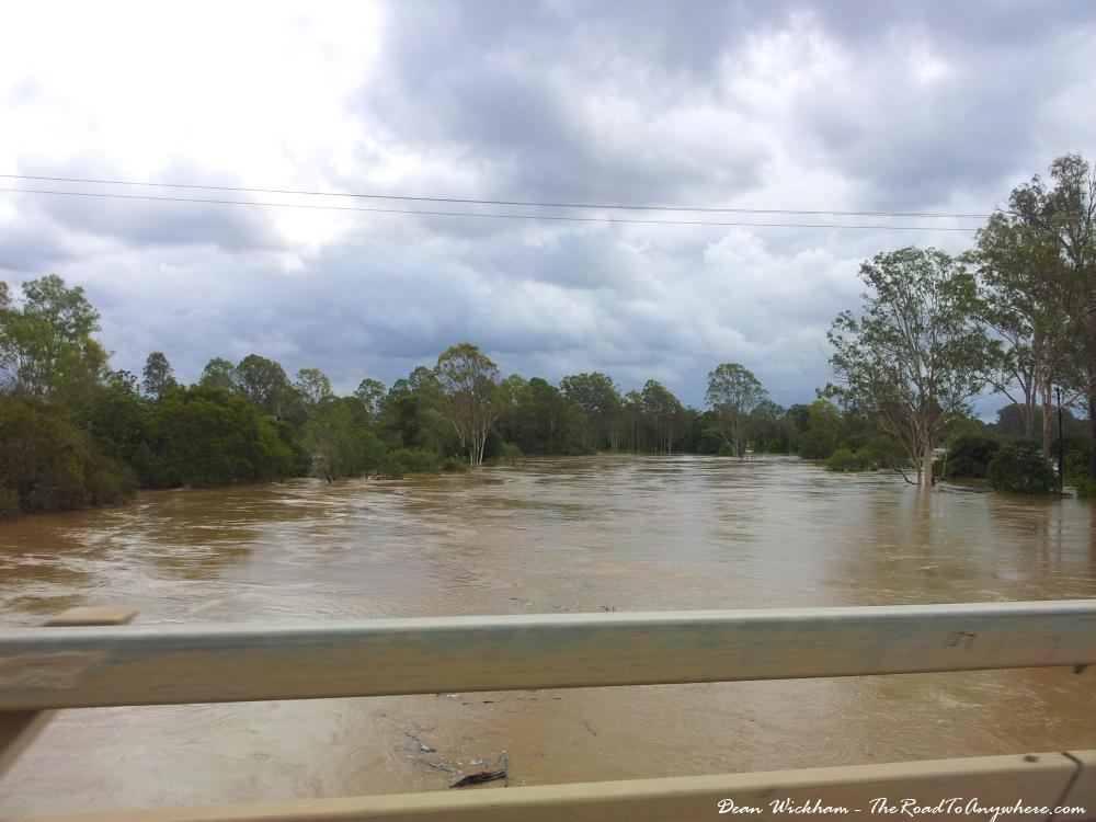 The Logan River flooding, Australia
