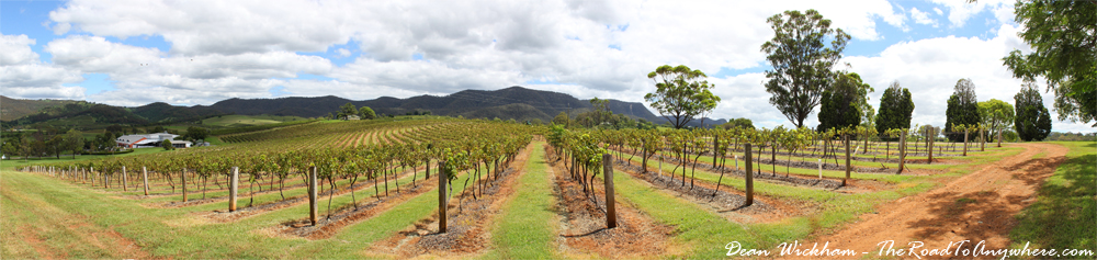 Panorama of Lindemans Winery in the Hunter Valley, Australia