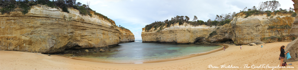 Panorama of Loch Ard Gorge on the Great Ocean Road, Australia