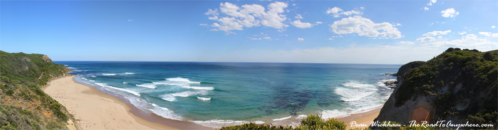 Panorama of Castle Cove on the Great Ocean Road, Australia