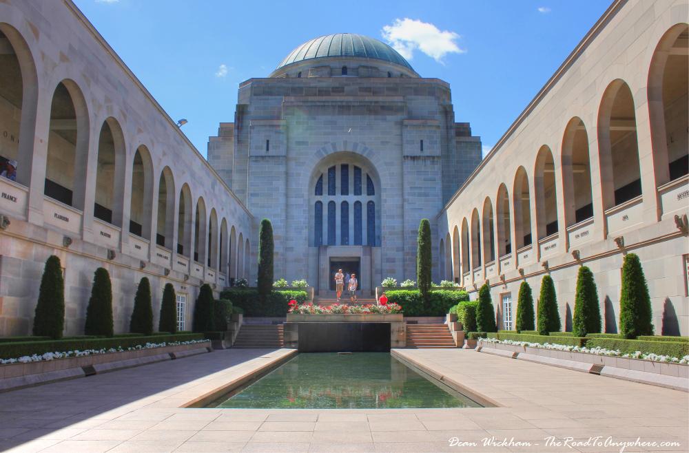 Inside the Australian War Memorial in Canberra, Australia