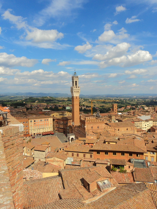 View of Siena in Tuscany, Italy