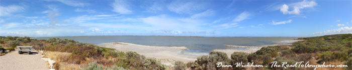 Panorama of the Coorong in South Australia