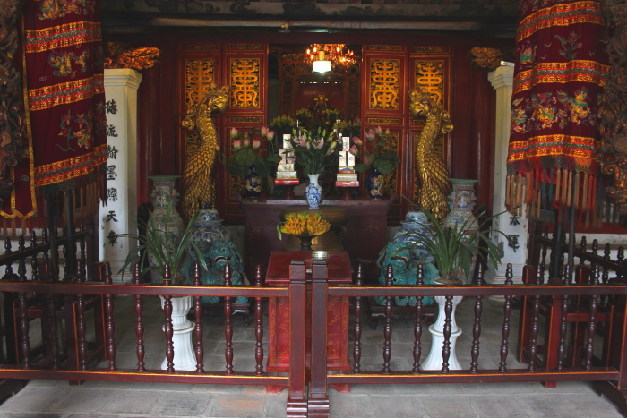 A shrine at Ngoc Son Temple in Hanoi. Vietnam