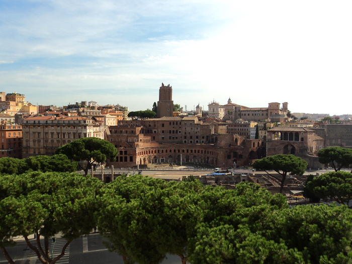 View of Trajan's Forum in Rome, Italy