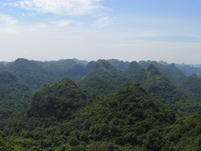 Panorama of Cat Ba National Park on Cat Ba Island, Vietnam