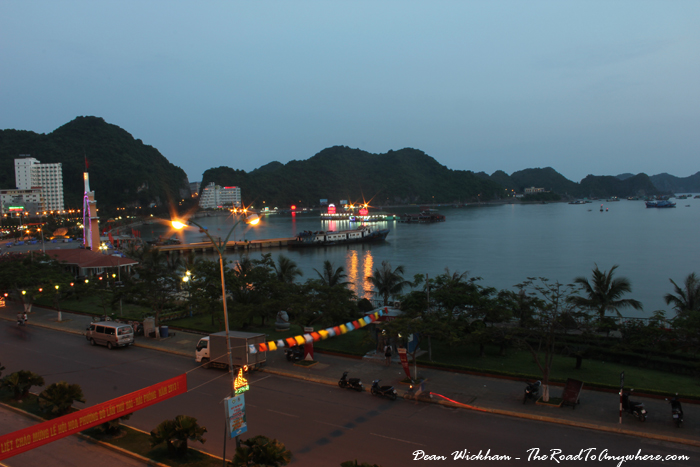 View from our hotel in Cat Ba Town on Cat Ba Island, Vietnam