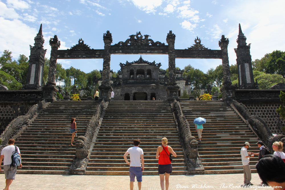Stairway at the tomb of Khai Dinh in Hue, Vietnam