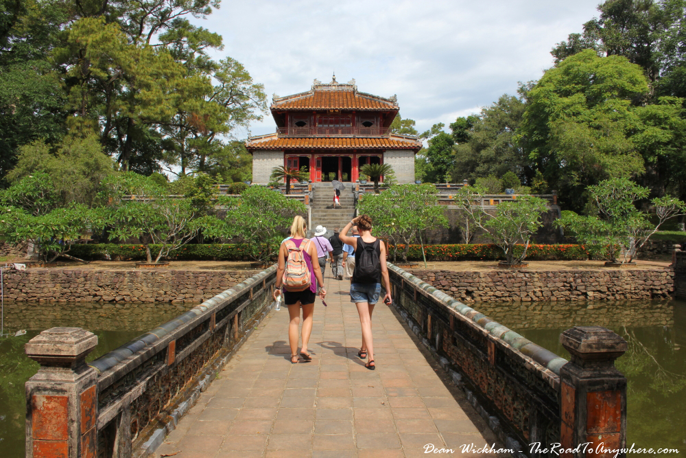 Pavilion in the tomb of Minh Mang in Hue, Vietnam