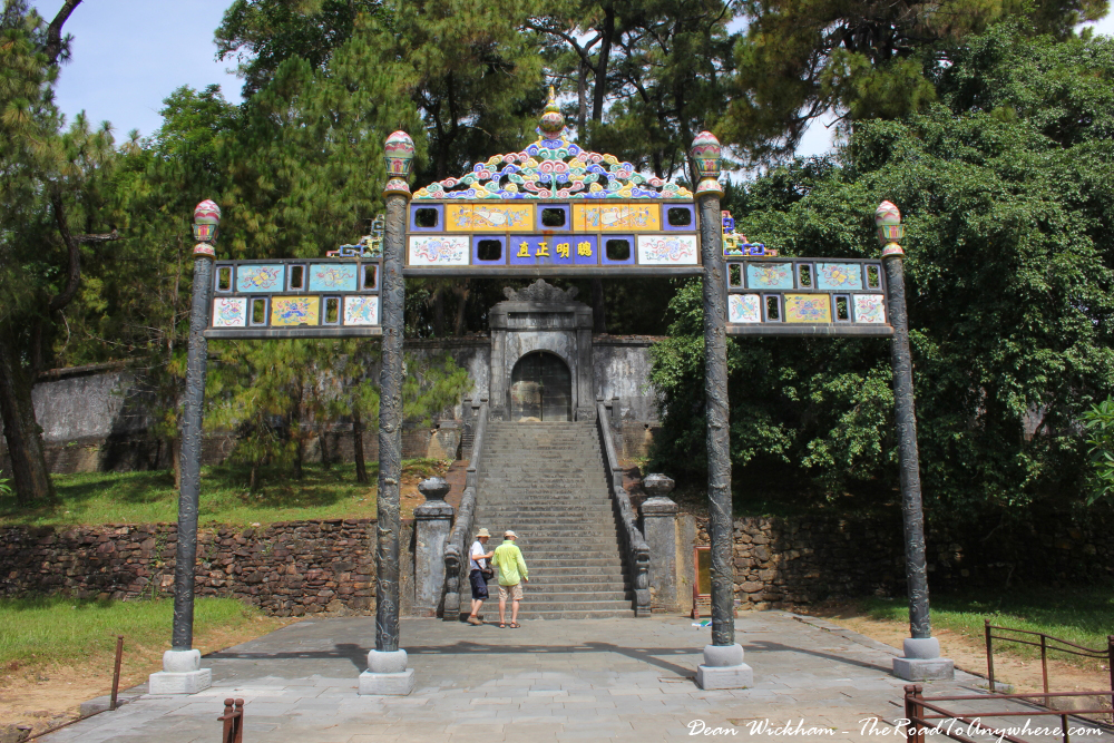 The tomb of Emperor Minh Mang in Hue, Vietnam