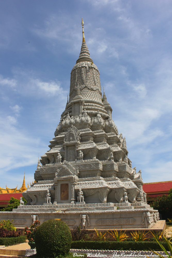A chedi inside the Royal Palace in Phnom Penh, Cambodia